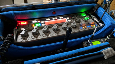 Sound Devices 788T multi-channel audio recorder and Lectrosonics receivers