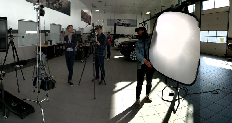 Audio recording for a Mercedes Benz recruiting video